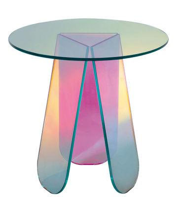 Table basse Shimmer / Ø 52 x H 45 cm - Glas Italia multicolore en verre