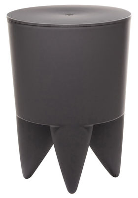 Mobilier - Mobilier Ados - Tabouret New Bubu 1er / Coffre - Plastique - XO - Gris Charbon - Polypropylène