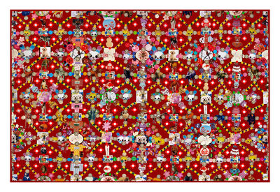 Tapis Obsession / 300 x 200 cm - Moooi Carpets rouge en tissu