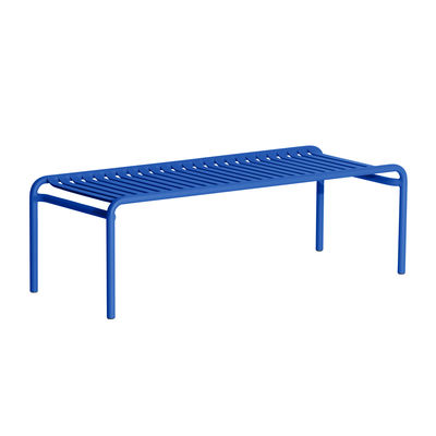 Arredamento - Tavolini  - Tavolino Week-End - / Large - 127 x 51 cm di Petite Friture - Blu - Alluminio termolaccato epossidico