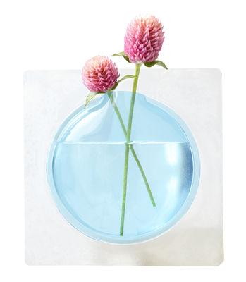 Déco - Vases - Vase Kaki / Adhésif - H 12,3 cm - Pa Design - Bleu - PVC souple