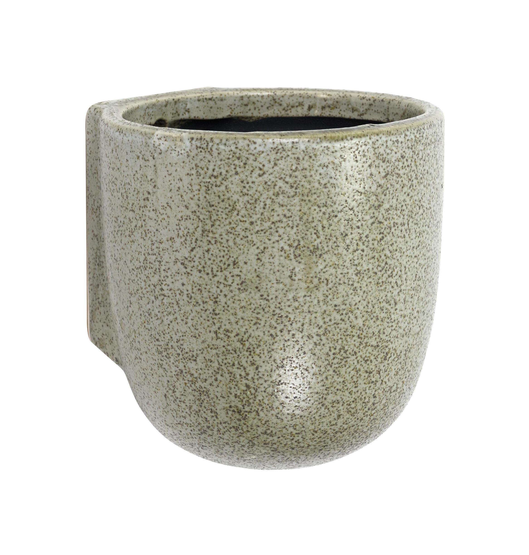 vintage wand-blumentopf - / Ø 14,5 cm x h 15 cm grün by serax | made