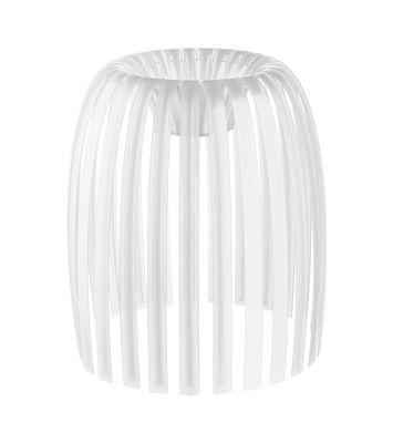 Abat-jour Josephine Medium / Ø 31 x H 34 cm - Koziol blanc opaque en matière plastique