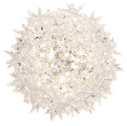 Applique Bloom / Plafonier - Ø 28 cm - Kartell blanc en matière plastique