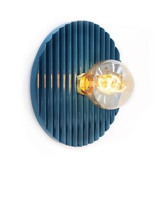 Illuminazione - Lampade da parete - Applique Riviera - / Legno - Ø 25 cm di Maison Sarah Lavoine - blu Sarah - Rattan laccato