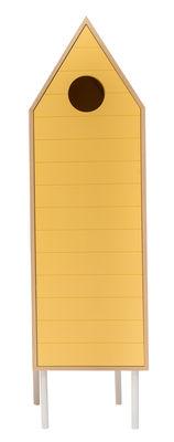 Armoire Levante / Avec porte - L 50 x H 180 cm - Valsecchi 1918 jaune,bois naturel en bois