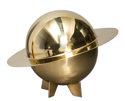 Tableware - Fruit Bowls & Centrepieces - Cosmic Diner - Lunar Box by Diesel living with Seletti - Shiny brass - Brass