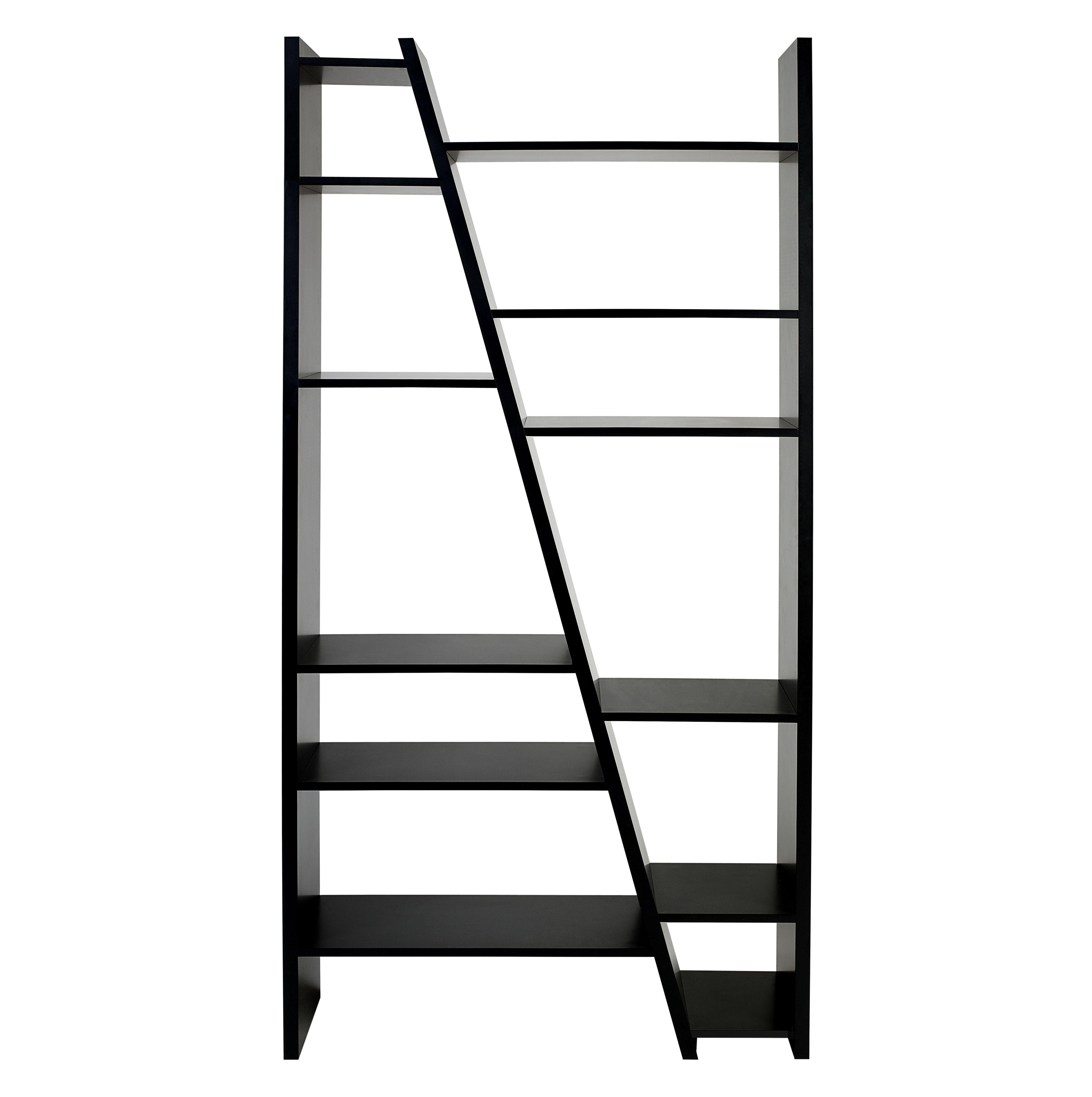 Möbel - Regale und Bücherregale - San Andreas 002 Bücherregal / L 97 cm x H 195 cm - POP UP HOME - Schwarz - Leichtbauplatten, Melamin