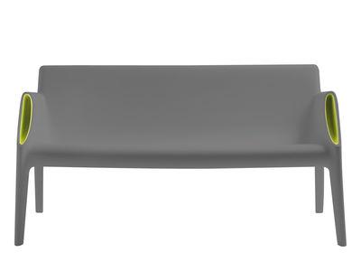 Canapé droit Magic Hole / L 141 cm - Kartell gris,vert en matière plastique