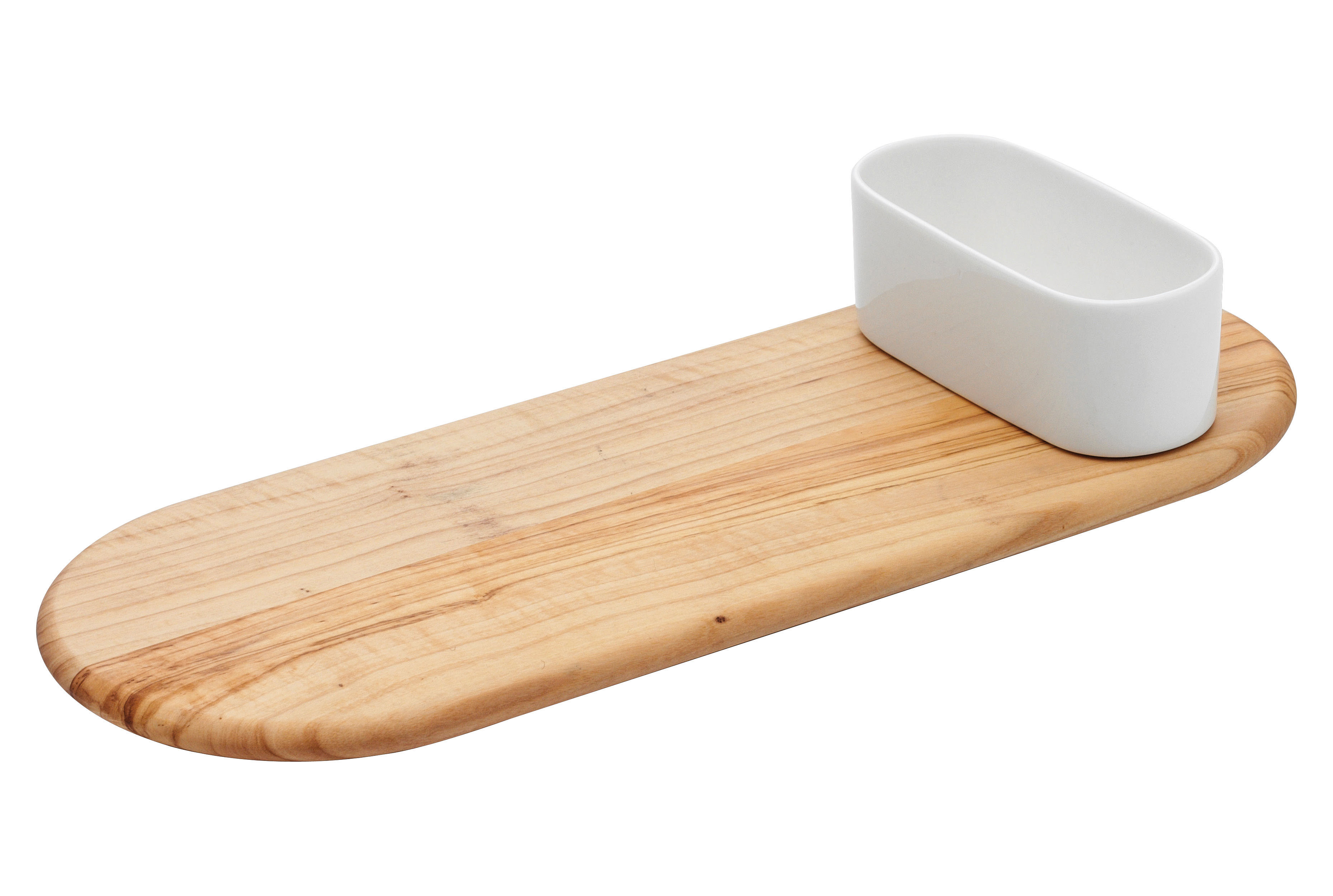 Kitchenware - Kitchen Equipment - Festa Chopping board - 40 x 15 cm by Serafino Zani - Wood & white - China, Olive tree