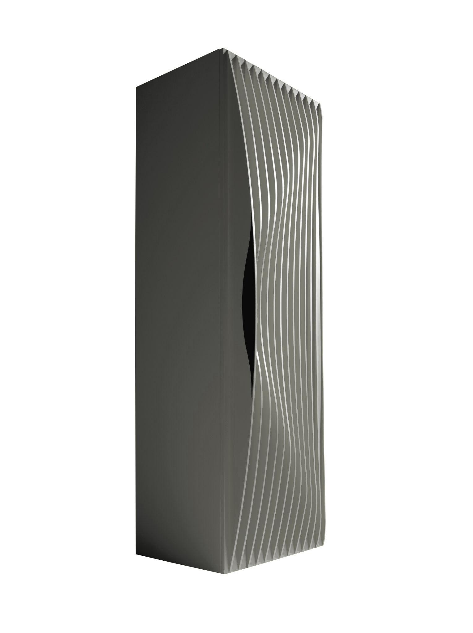 Furniture - Shelves & Storage Furniture - Blend Closet - 1 door by Horm - Silver - MDF