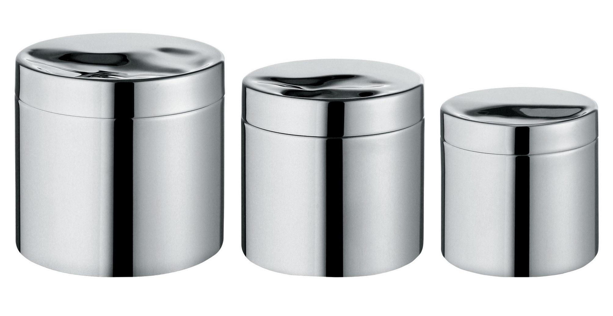 Scopri scatola llu sa ermetico 50 cl 50 cl acciaio lucido di alessi made in design italia - Accessori bagno alessi ...