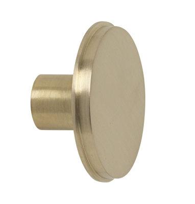 Furniture - Coat Racks & Pegs - Métal Large Hook - / Handle - Ø 5 cm by Ferm Living - Golden brass - Brass