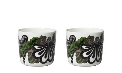 kaffeetasse kaalimets von marimekko kaalimets schwarz gr n 7 5 x h 7 cm contenance. Black Bedroom Furniture Sets. Home Design Ideas