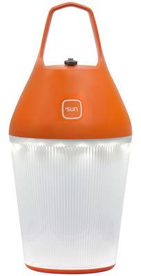 Illuminazione - Lampade da tavolo - Lamapada solare Nomad - senza fili / Ricarica tramite elettricità o energia solare di O'Sun - Arancione - ABS