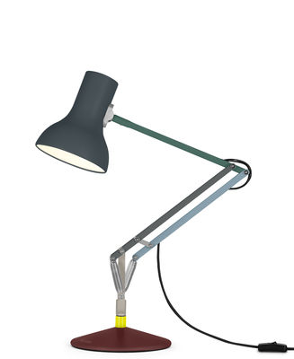 Lighting - Table Lamps - Type 75 Mini Lamp - / By Paul Smith - Edition no. 4 by Anglepoise - Red, Grey, Blue, green - Aluminium, Cast iron, Steel