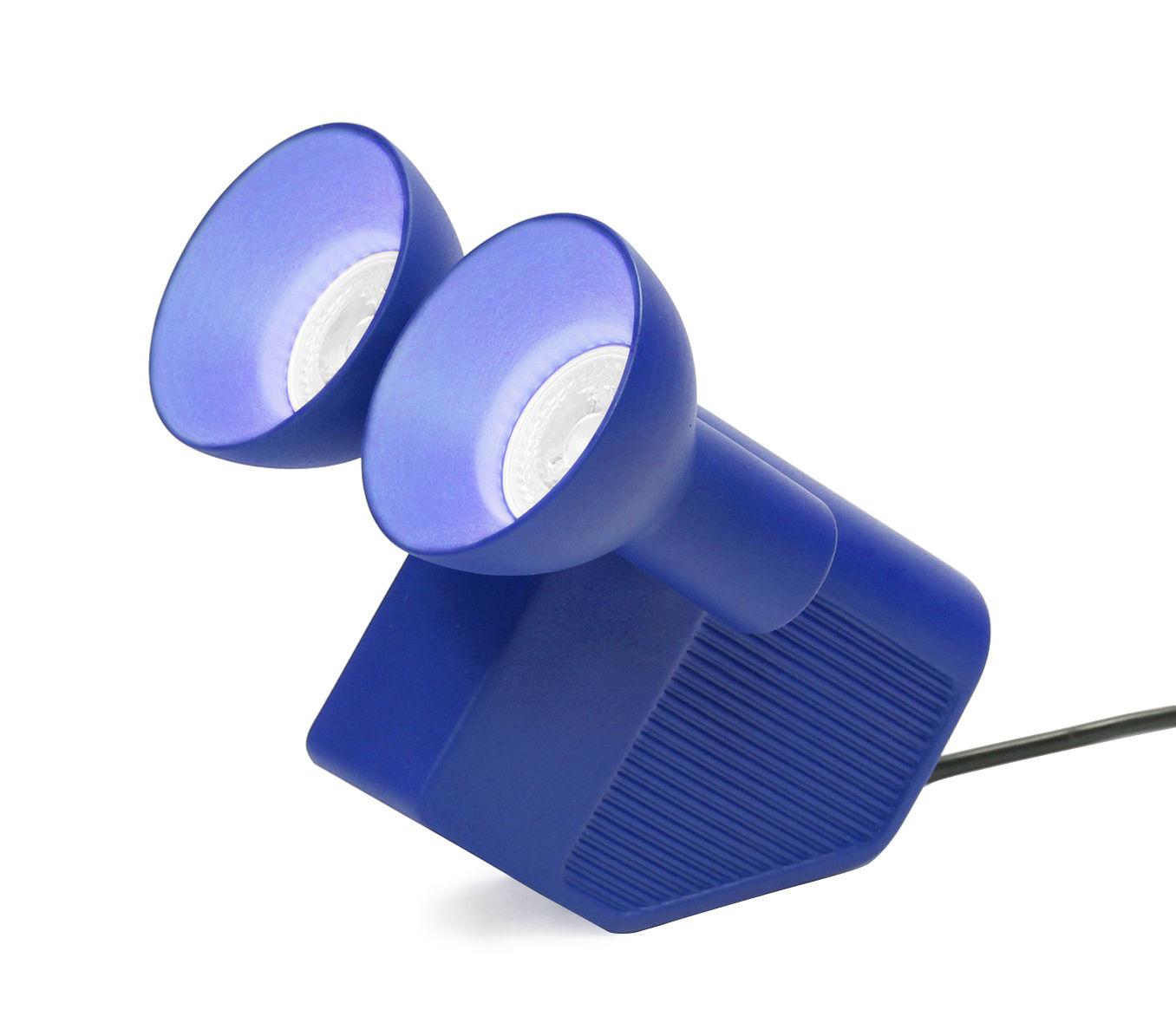 Illuminazione - Lampade da tavolo - Lampada da tavolo Olo / Serie limitata e firmata in esclusiva - Moustache - Blu - Ceramica