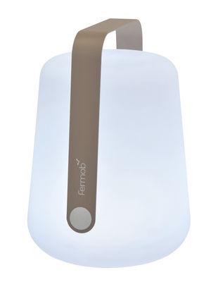 Illuminazione - Lampade da tavolo - Lampada senza fili Balad LED / H 38 cm - Ricarica USB - Fermob - Noce moscata - Alluminio, Polietilene