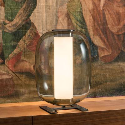 Lampe de table Meridiano LED / Ø 31 x H 43 cm - Fontana Arte gris en verre
