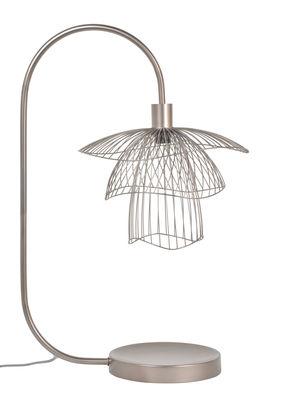 Lampe de table Papillon / H 62 cm - Forestier rose en métal