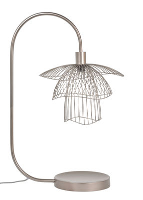 Lampe de table Papillon / H 62 cm - Forestier cuivre rose en métal