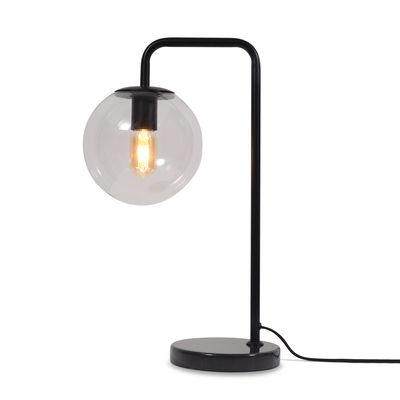 Luminaire - Lampes de table - Lampe de table Warsaw / Verre & métal - It's about Romi - Noir / Marbre noir - Fer, Marbre, Verre