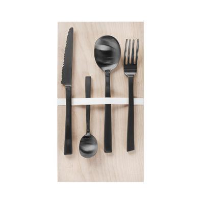 Ménagère by Maarten Baas / 16 couverts (4 personnes) - valerie objects noir en métal