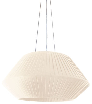 Lighting - Pendant Lighting - Ruban Pendant - Ø 90 cm by Dix Heures Dix - Ivory - Polyester fabric