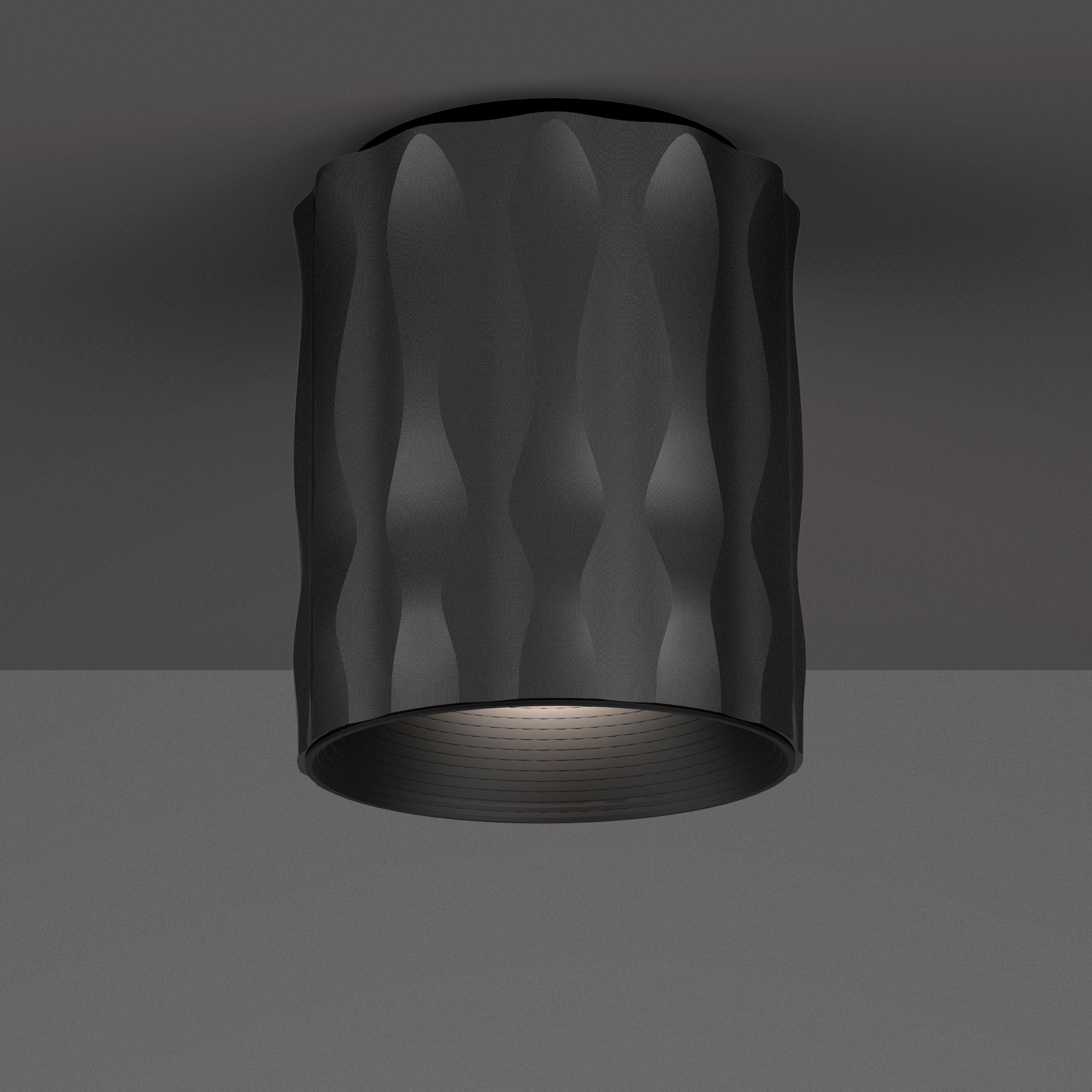 Luminaire - Plafonniers - Plafonnier Fiamma / H 16 cm - Artemide - Noir - Métal