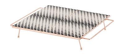 Plateau Mix&Match / 30 x 30 cm - Céramique & cuivre - Gan blanc,cuivre,noir en céramique