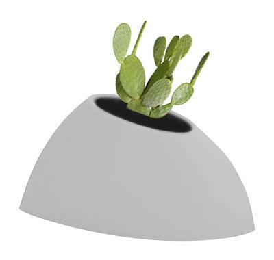 Pot de fleurs Tao S H 36 cm - MyYour gris en verre/matière plastique