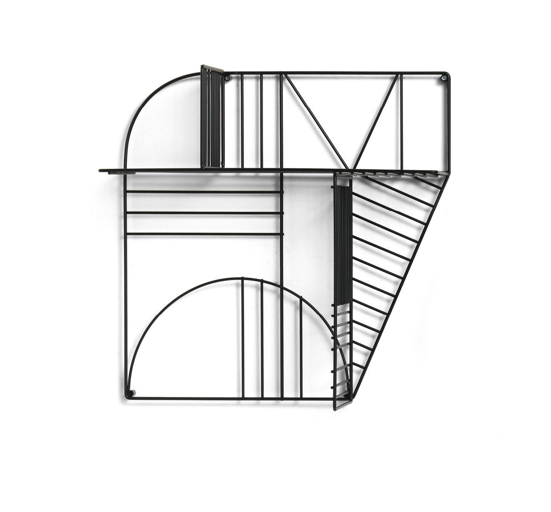 Möbel - Regale und Bücherregale - Musa Regal / 60 x 60 cm - Mogg - Schwarz - lackiertes Metall