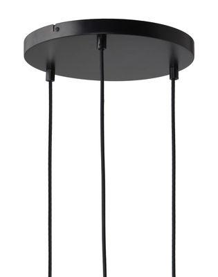 Rosace multiple 3 trous / Pour 3 suspensions - Frandsen noir en métal
