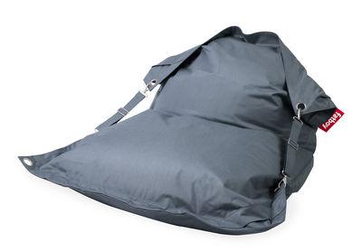 Möbel - Sitzkissen - Buggle-up Outdoor Sitzkissen / mit verstellbaren Riemen - Fatboy - Stahlblau - Polyacryl, polymerbeschichtete Holzfaserplatte