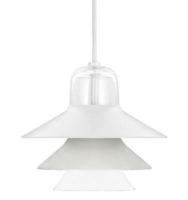 Illuminazione - Lampadari - Sospensione Ikono Small - / Ø 20 cm di Normann Copenhagen - Grigio - Acciaio laccato, Vetro