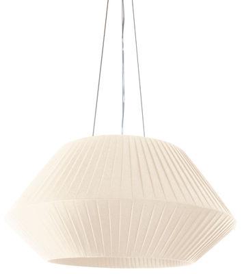 Illuminazione - Lampadari - Sospensione Ruban - Ø 90 cm di Dix Heures Dix - Avorio - Tessuto poliestere