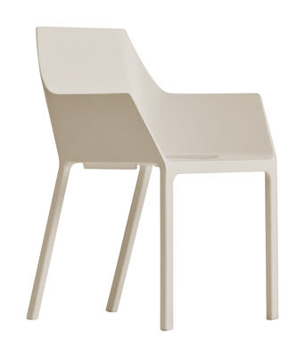 Furniture - Chairs - Mem Stackable armchair - Plastic by Kristalia - Beige - Fibreglass, Polypropylene