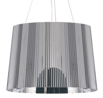 Luminaire - Suspensions - Suspension Gé Metallisé / Ø 37 cm - Matériau recyclé - Kartell - Chrome - Polycarbonate 2.7