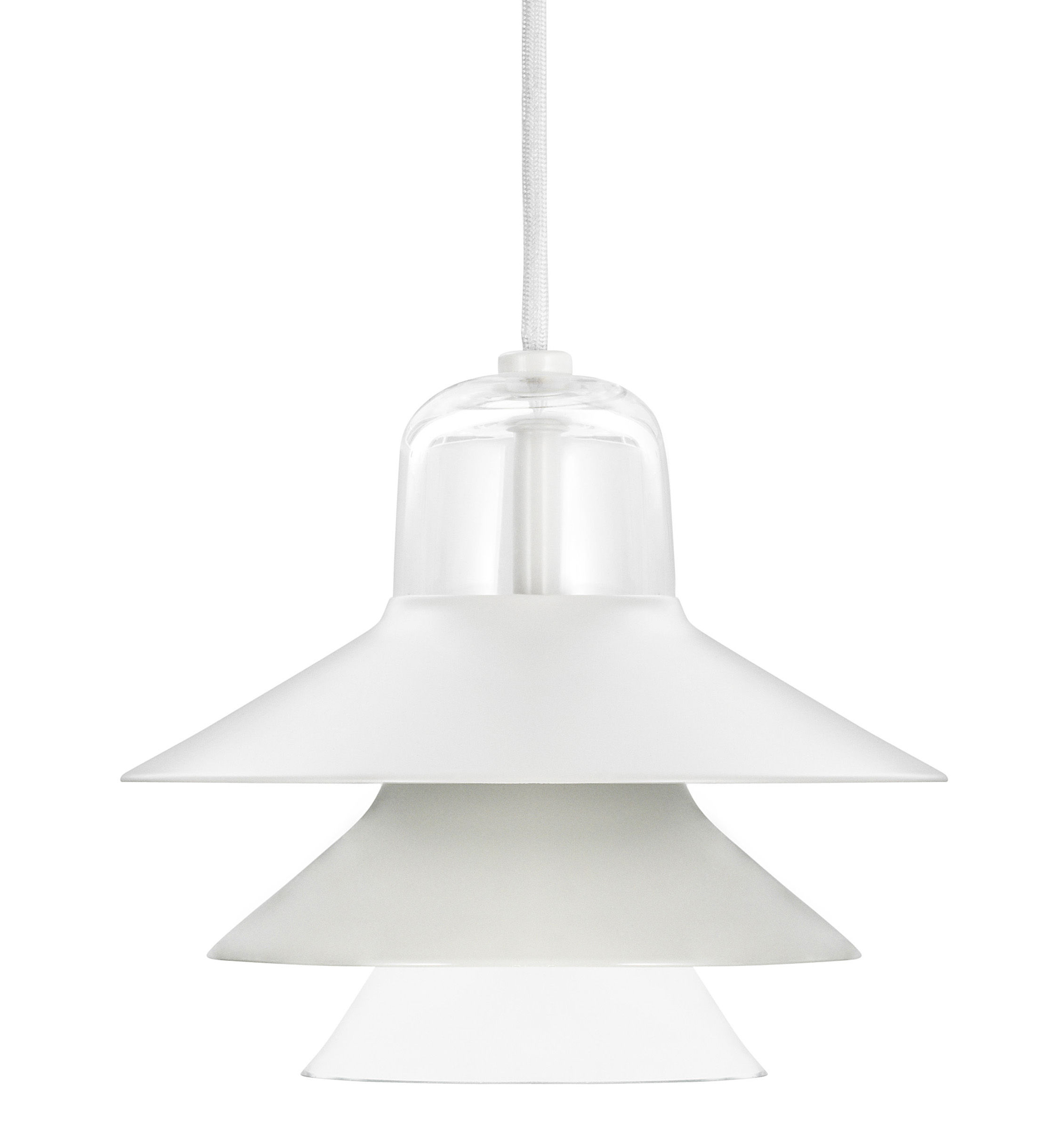 Luminaire - Suspensions - Suspension Ikono Small / Ø 20 cm - Normann Copenhagen - Gris - Acier laqué, Verre