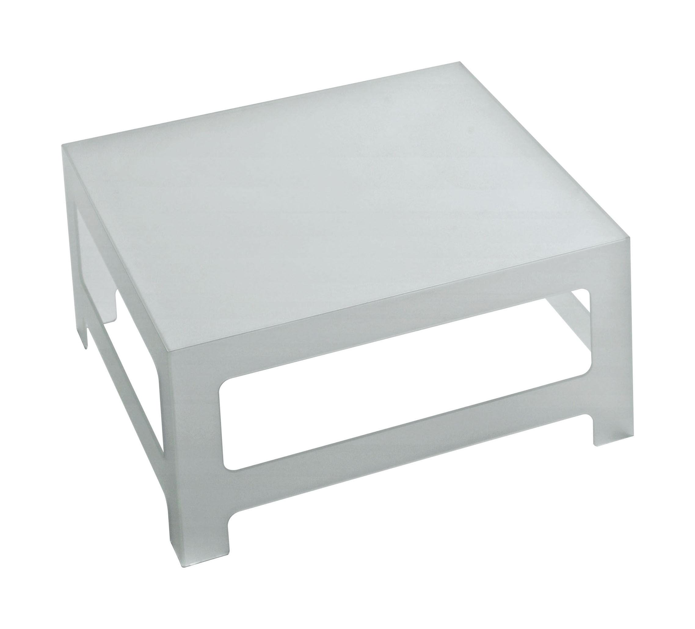 Mobilier - Tables basses - Table basse Nezu H 30 cm - 70 x 70 cm - Glas Italia - 70 x 70 cm - Verre dépoli - Verre