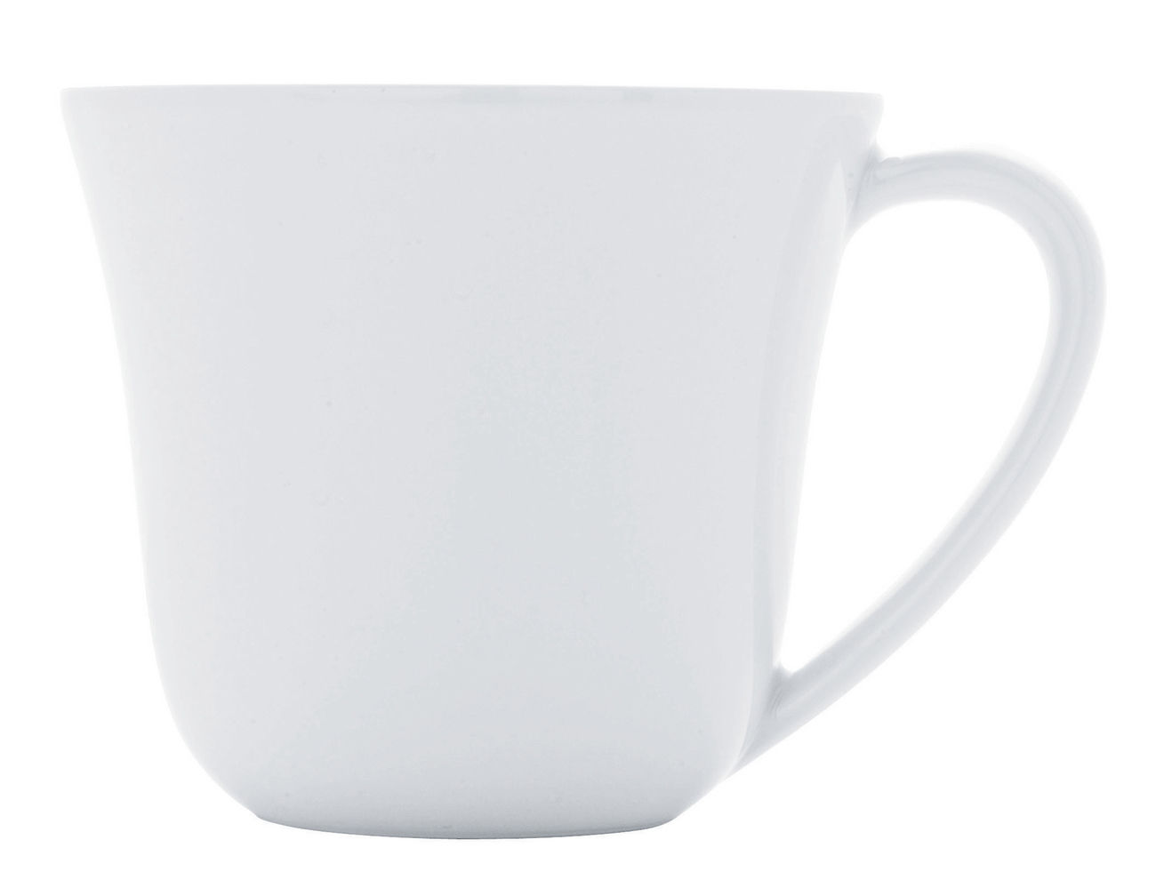 Arts de la table - Tasses et mugs - Tasse à café Ku / 20 cl - Alessi - Tasse / Blanc - Porcelaine