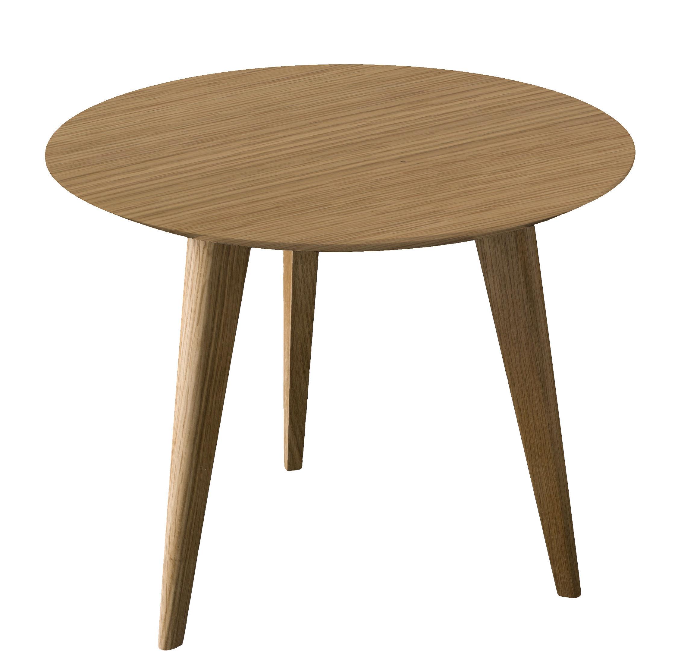 Arredamento - Tavolini  - Tavolino Lalinde Ronde - rotondo - Small Ø 45 cm / Gambe in legno di Sentou Edition - Rovere / Gambe legno - MDF, Rovere verniciato