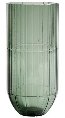 Vase Colour XL / Ø 13 x H 27.5 cm - Hay vert en verre