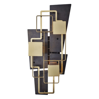 Lighting - Wall Lights - Map 2 Wall light by DCW éditions - Brass & black - Brushed varnished brass, Painted steel
