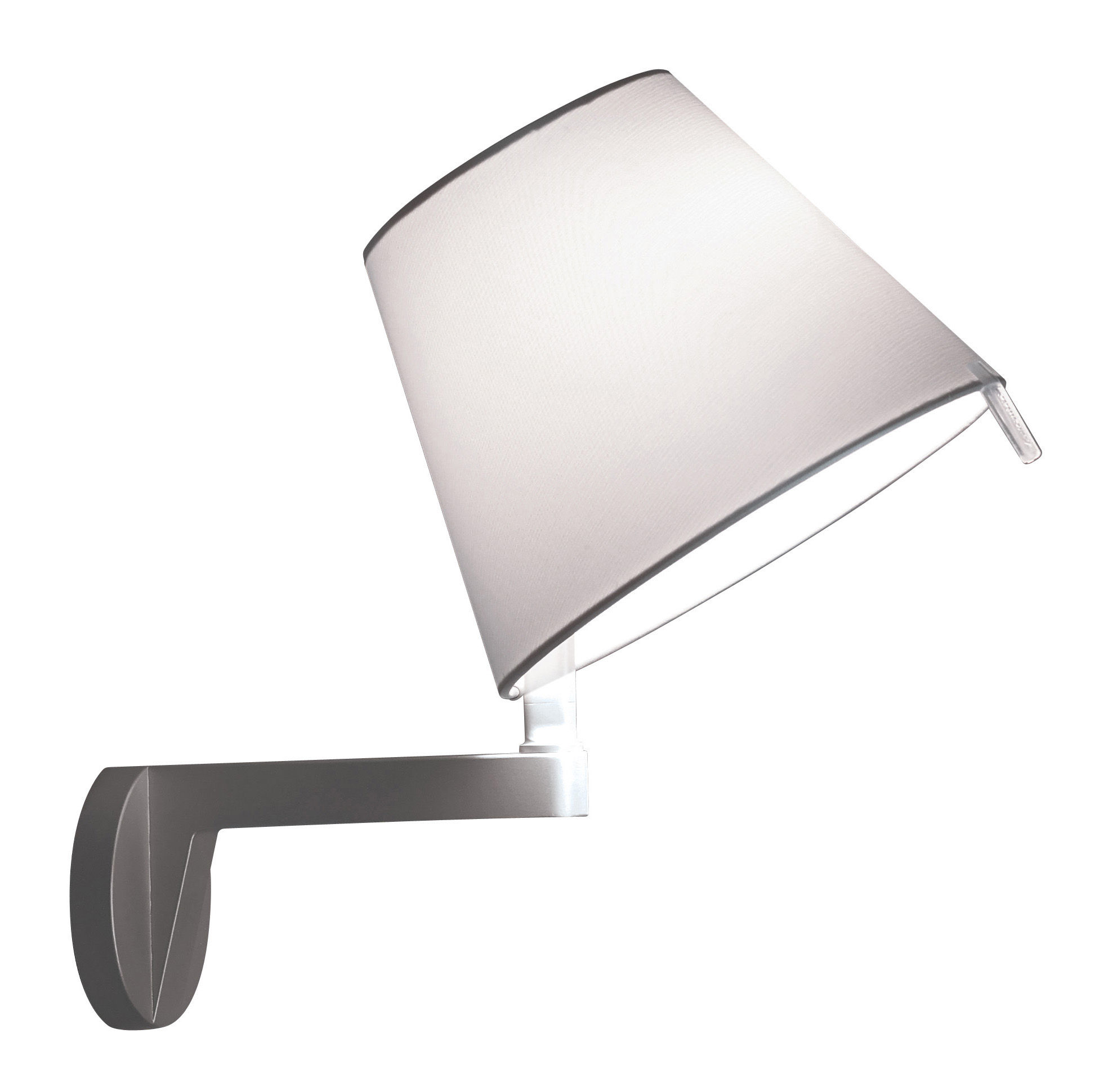 Lighting - Wall Lights - Melampo Wall light by Artemide - Aluminium grey - Aluminium, Fabric