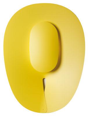 Luminaire - Appliques - Applique d'extérieur Séléné LED / Verticale 50 x 70 cm - Roger Pradier - Jaune - Aluminium