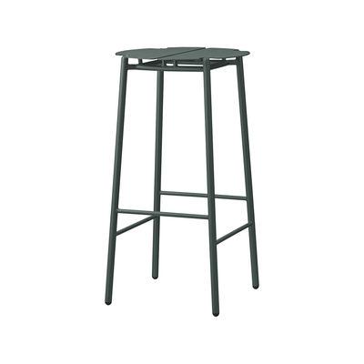 Furniture - Bar Stools - Novo Bar stool - / H 75 cm - Metal by AYTM - Forest green - aluminium, powder coating, Powder-coated steel