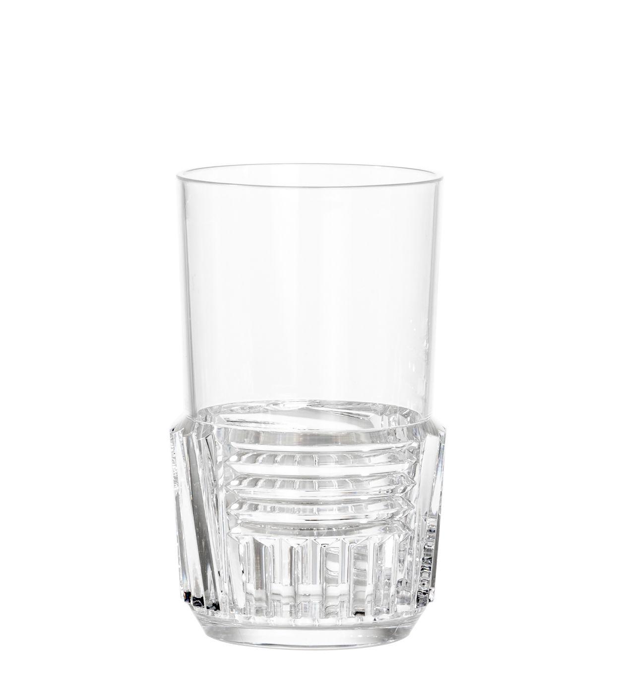 Tavola - Bicchieri  - Bicchiere Trama Large - / H 15 cm di Kartell - Cristallo - Tecnopolimero