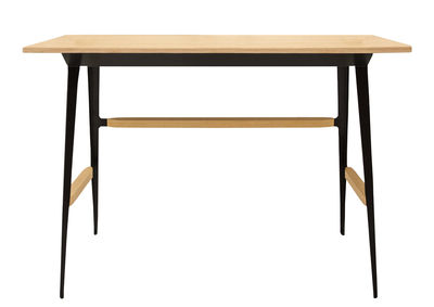 Bureau Portable Atelier / Moleskine - Driade noir/bois naturel en métal/bois
