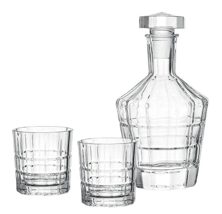 Arts de la table - Carafes et décanteurs - Carafe à whisky Spiritii / + 2 verres - Leonardo - Transparent - Verre